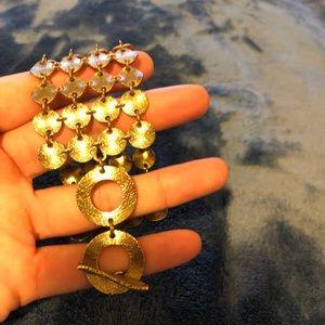 Gold chunky bracelet